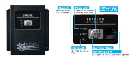 Hitachi NES1-004HB Inverter